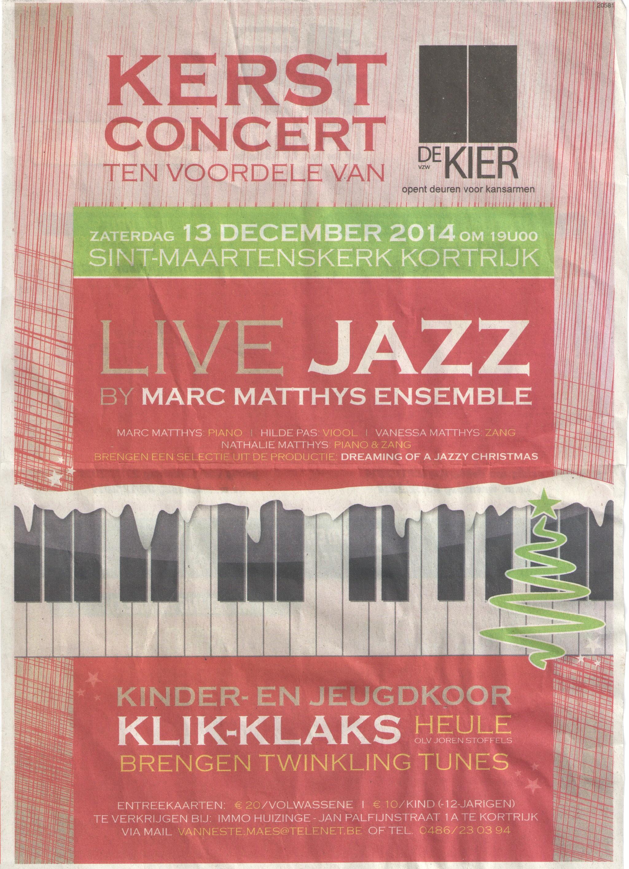 Live Jazz Matthys_klikklaks 13dec14